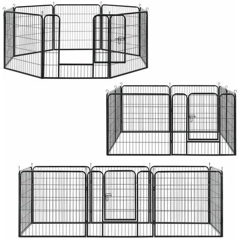 Sam´s Pet Welpenauslauf aus Metall mit doppelt verriegelbarer Tür - 8-teilig