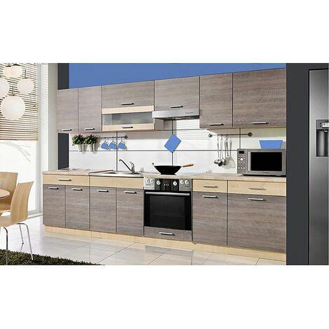 SAMSON | Cuisine Complète L 3,2 m 9 pcs + Plan de travail INCLUS | Ensemble meubles cuisine - Navara