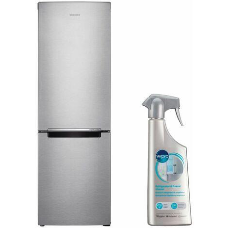 SAMSUNG Réfrigérateur Frigo Combiné inox 311L Froid ventilé No Frost MultiFlow - Inox