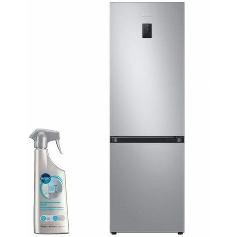 SAMSUNG réfrigérateur frigo combiné inox 340L Froid ventilé No Frost - Inox