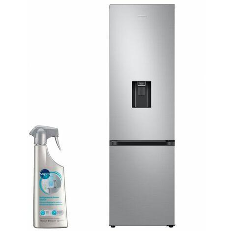 SAMSUNG réfrigérateur frigo combiné inox 360L Froid ventilé No-frost distributeur d'eau - Inox