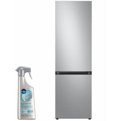 SAMSUNG réfrigérateur frigo combiné inox 360L Froid ventilé No-frost - Inox