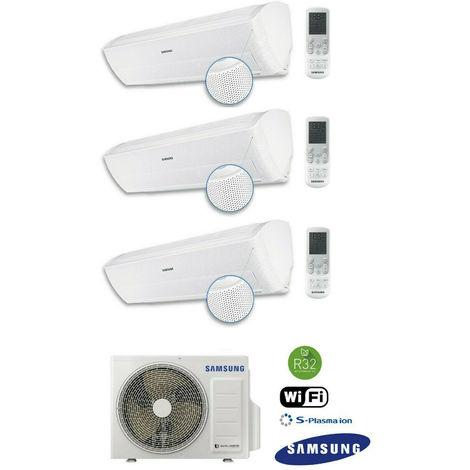 SAMSUNG Wind-Free Optimum 2,5 + 2x3,5kW MultiSplit Wifi Aussen 6,8kW Klimaanlage