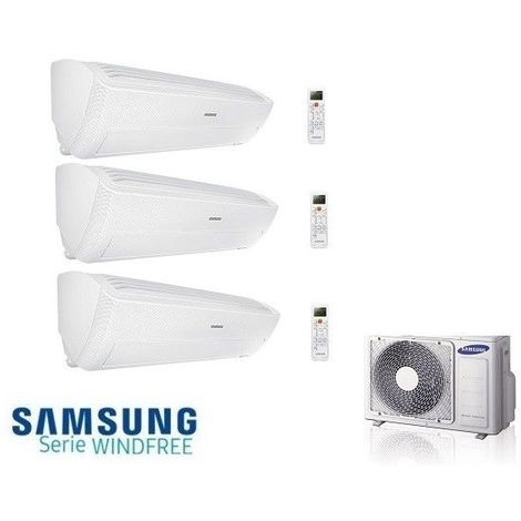 SAMSUNG Wind-Free ULTRA 3x 3,5kW Multi Split Klimaanlage Klimagerät AJ068