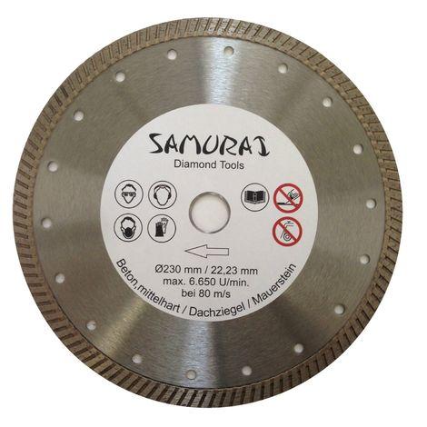 samurai profi disque diamant 230 mm segment turbo carrelage. Black Bedroom Furniture Sets. Home Design Ideas
