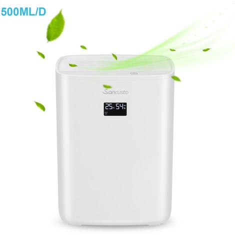 Sancusto®   2500ml Deshumidificador Digital, 500ML/Día, 2.5L Tanque De  Agua, Auto Apaga, ?35db, ...
