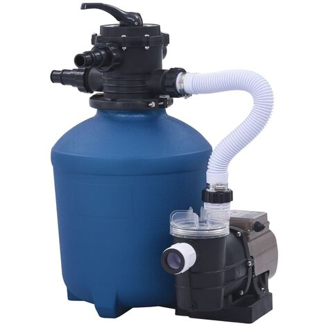 Sand Filter Pump with Timer 530 W 10980 L/h - Blue