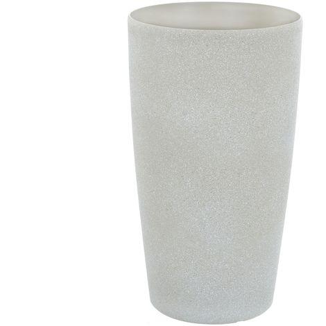 Sand Stone Effect Round Plant Pot Beige 41cm