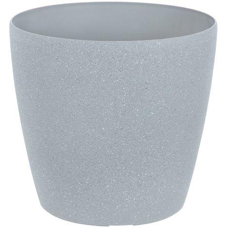 Sand Stone Effect Round Plant Pot Grey 26cm