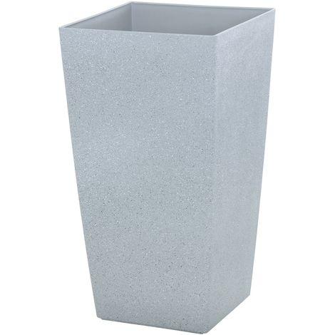 Sand Stone Effect Square Plant Pot Grey 41cm