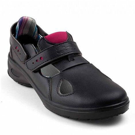 nouveaux styles cf27a a59a5 Sandale de sécurité Femme - MIMOSA NOIR O1 SRC - Gaston Mille