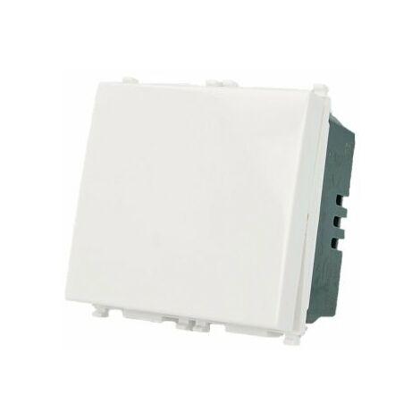 SANDASDON Interruttore 2M 1P 16A Bianco Compatibile Vimar Plana