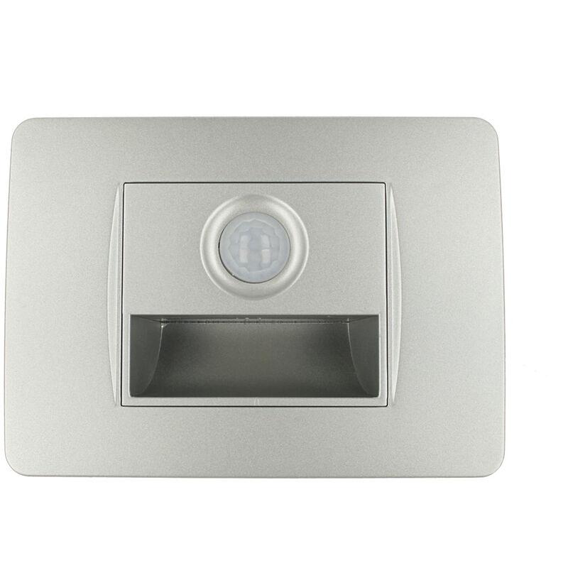 LEDLUX SD60038-1TC SANDASDON Segnapasso Led Con Sensore Silver 220V 1,6W Caldo 3500K Per Scatola 503 Compatibile Bticino Matix