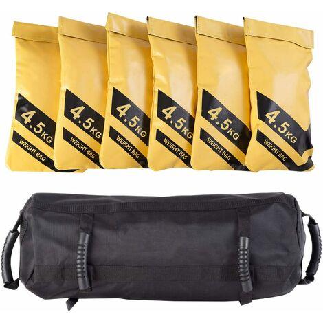 Sandbag Saco de Peso Entrenamiento Saco Pesado con 6 Sacos Terrenos Vacíos para Rellenar Arena