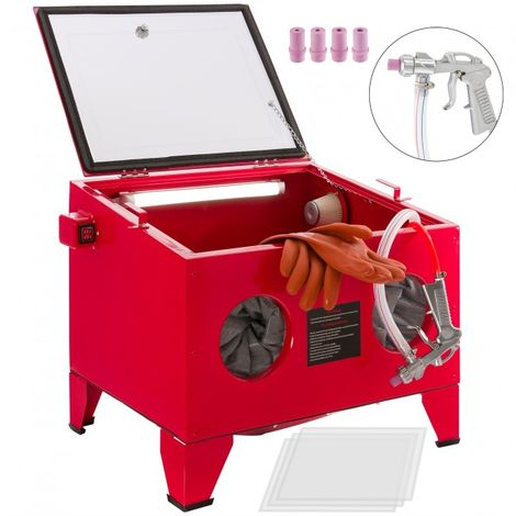Sandblasting cabinet Sand blasting unit Sandblasting system Sand blaster 90 l