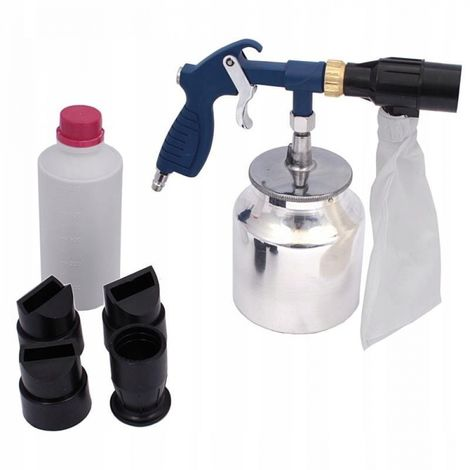 Sandblasting gun with recovery container 1l