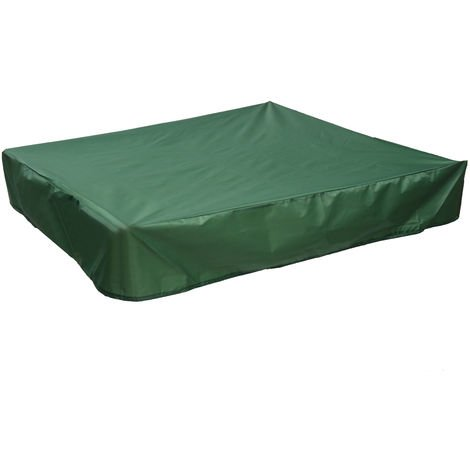 Sandbox cover Waterproof dust cover Square Awning Shelter Green Fabric