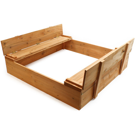 Sandbox Lift-up cover Sandpit Bench Wood