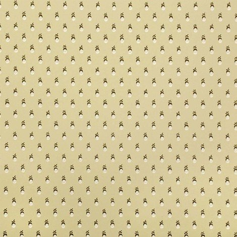 Sanderson Patterned Dotted Design Kitchen And Living Room Wallpaper Roll Yellow And Brown Dmawhe103