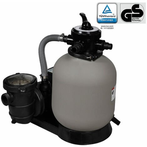 Sandfilterpumpe 600 W 17.000 L/h