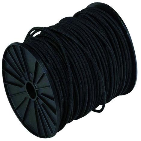 Sandow gaine en polyéthylène VISO - noir - Ø 8 mm - Le mètre linéaire - SL807NB