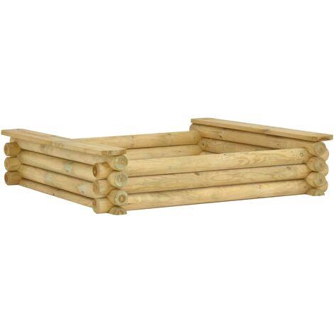 Sandpit 120x120x27 cm Impregnated pinewood