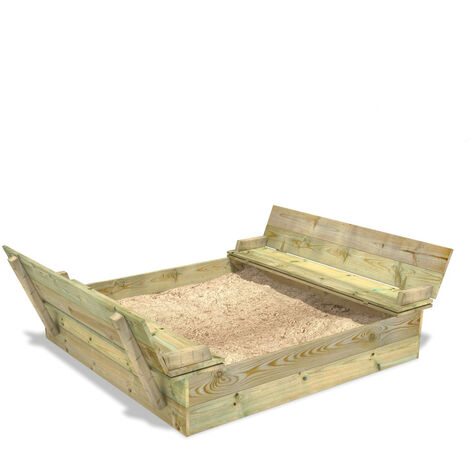 Sandpit WICKEY Flippey 150x165 cm with seat or cover