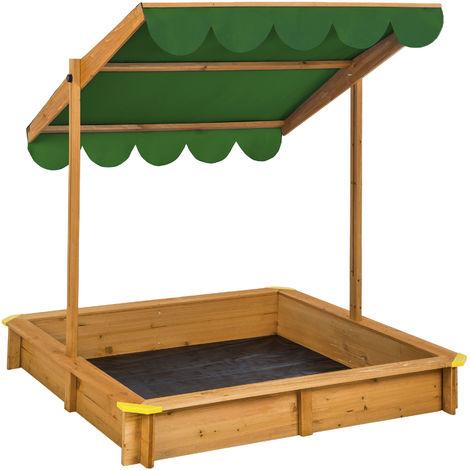 Sandpit with adjustable roof - kids sandpit, wooden sandpit, childrens sandpit