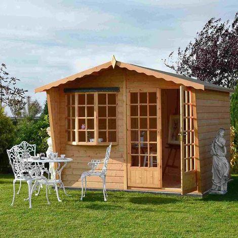 Sandringham 10' x 6' Double Door with Fixed Window Summerhouse