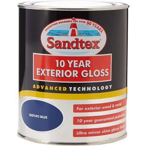 Sandtex 10 Year Exterior Gloss Oxford Blue 750ml