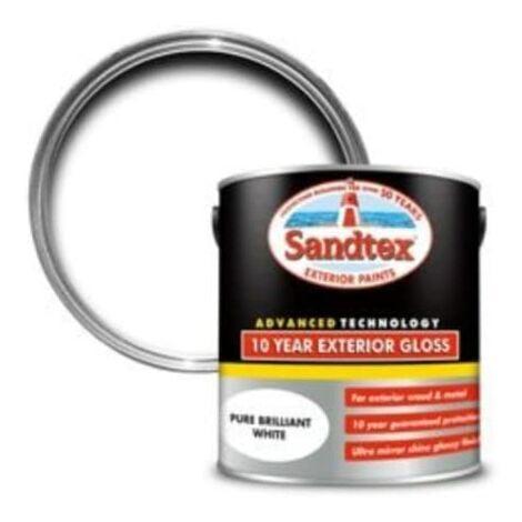 Sandtex 10 Year Exterior Gloss Pure Brilliant White 2.5L