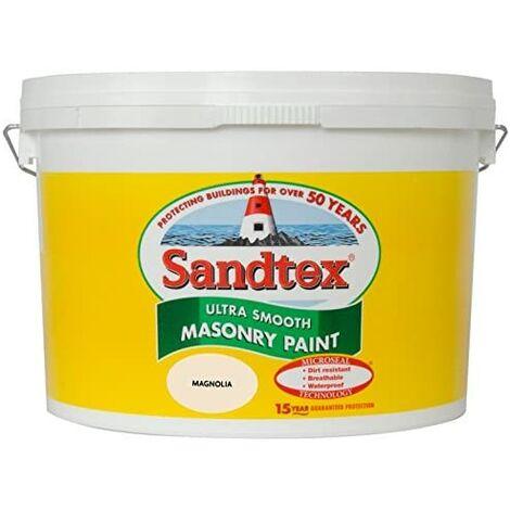 "main image of ""Sandtex 10L Smooth Masonry Paint Magnolia"""