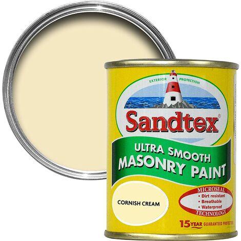 "main image of ""Sandtex 150ml Tester Smooth Masonry Paint Cornish Cream"""