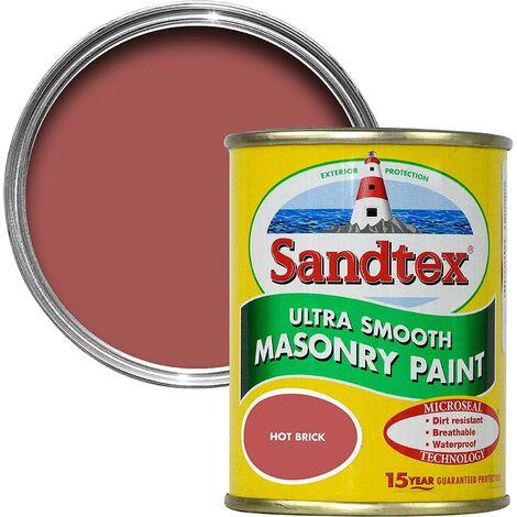 Sandtex 150ml Tester Smooth Masonry Paint Hot Brick