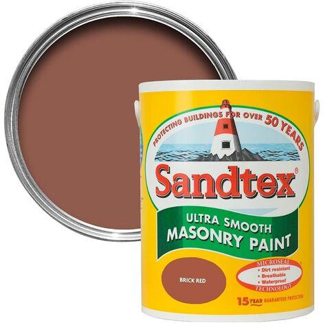 Sandtex 1L Smooth Masonry Paint Brick Red
