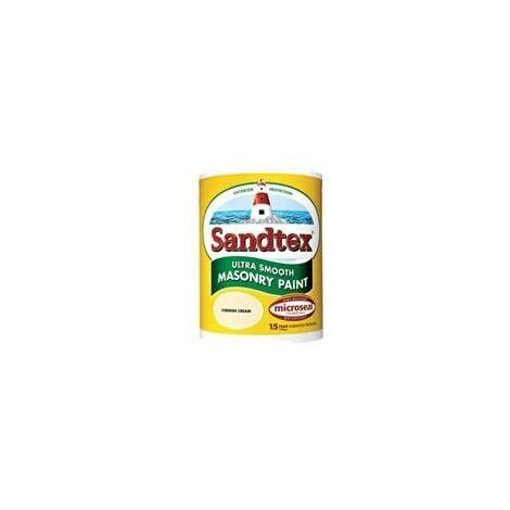 Sandtex 2.5 Litre Ultra Smooth Masonry Paint Brilliant White