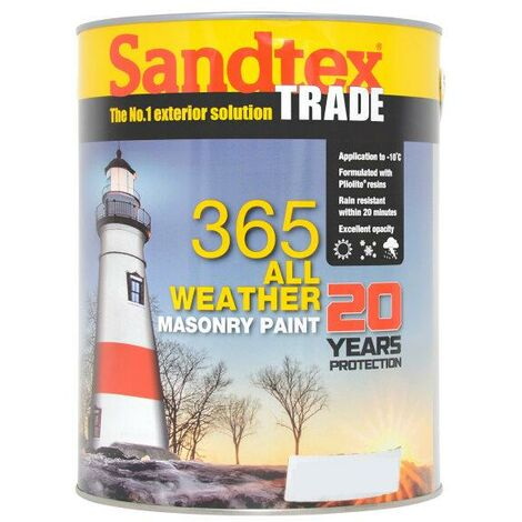 Sandtex 365 All Weather Masonry Paint - Magnolia - 5L