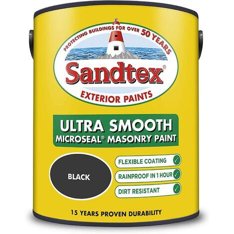 "main image of ""Sandtex 5L Smooth Masonry Paint Black"""