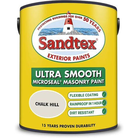 Sandtex 5L Smooth Masonry Paint Chalk Hill