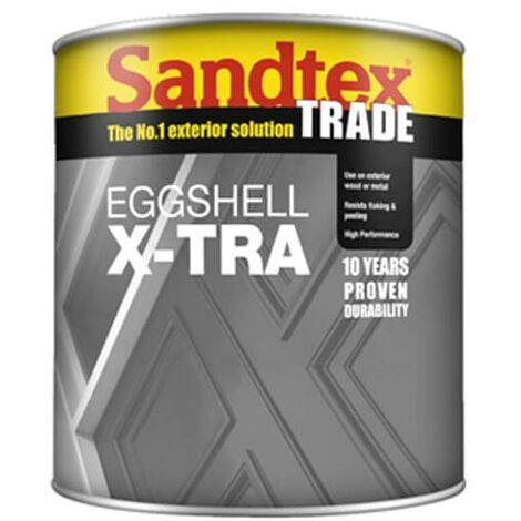 Sandtex Eggshell X-Tra - White - 1L
