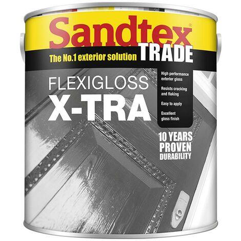 Sandtex Flexigloss X-Tra - Brilliant White - 1L