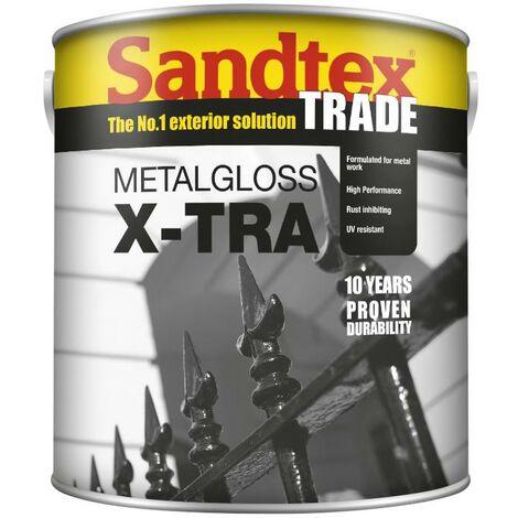 Sandtex Metalgloss X-Tra - Black - 2.5L