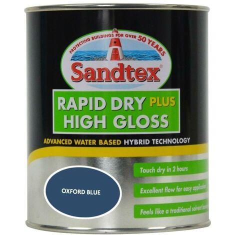 Sandtex Rapid Dry Plus High Gloss - Oxford Blue - 0.75L