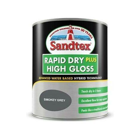 Sandtex Rapid Dry Plus High Gloss - Smokey Grey - 0.75L
