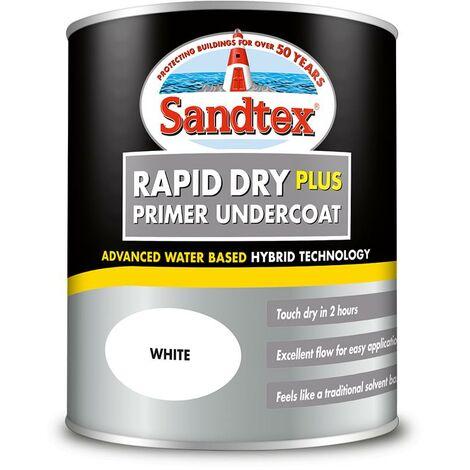 Sandtex Rapid Dry Plus Primer Undercoat - White - 0.75L