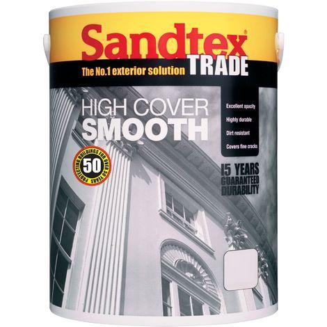 Sandtex Smooth Masonry Paint 5ltr Cornish Cream