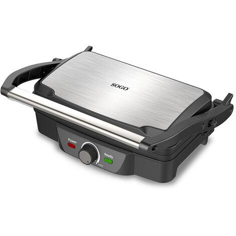 """main image of """"Sandwichera, plancha grill eléctrica de 1600W - Antiadherente alta calidad"""""""