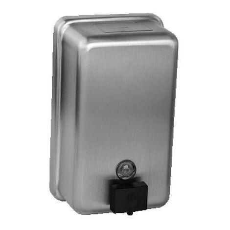 Sanela Distributeur de savon liquide en acier inoxydable, volume 1,2 l, brossé (SLZN 39)
