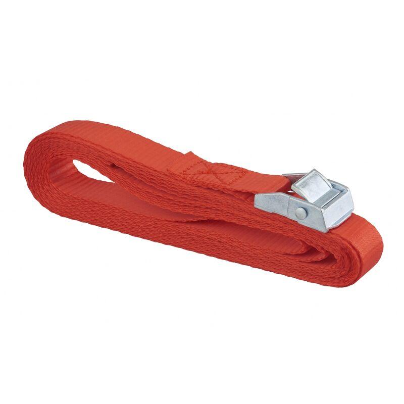 Sangle de serrage, 5m à boucle autoserrante, rouge - Thirard