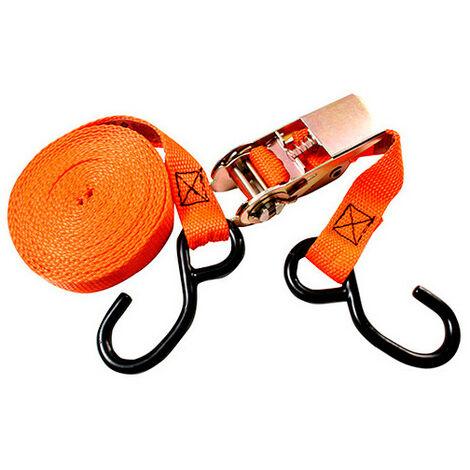 Sangle à cliquet 2 crochets S - 25 x 5 000 mm - XL Perform Tools